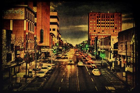 Downtown College Avenue - Appleton Wisconsin 8x12 Fine art photograph  $30.00