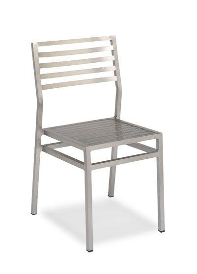 Mod. 195 silla de aluminio anodizado.