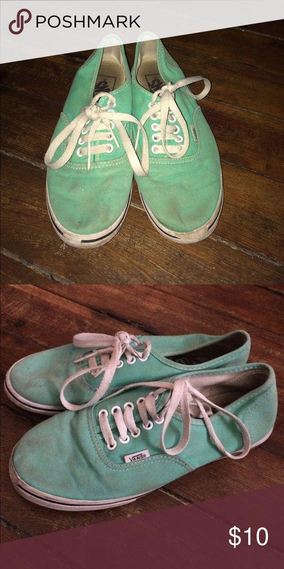 Teal vans Well loved teal vans! Ask to trade or make an offer! Vans Shoes Sneakers