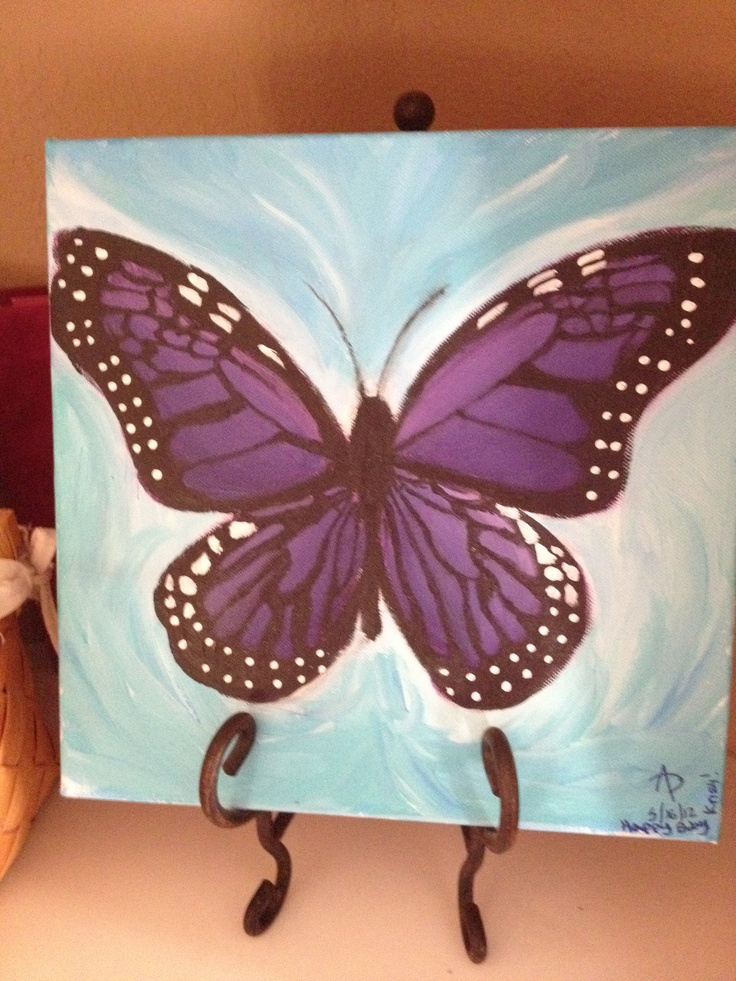 purple butterfly acrylic painting of mine(: | misc ...