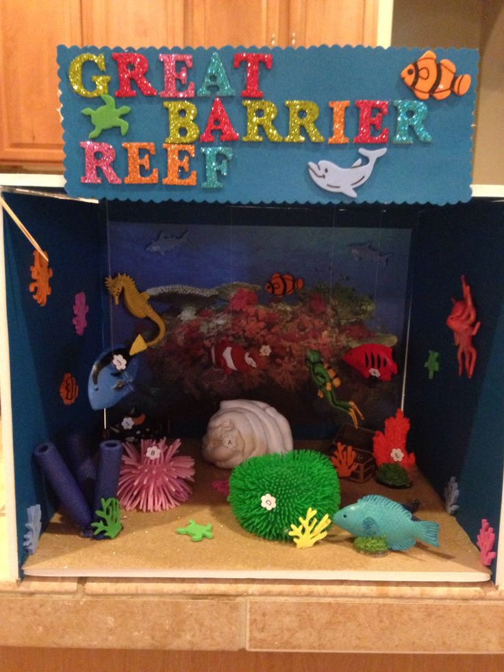 Great Barrier Reef Ecosystem Project- 3rd grade. You may be able to enlarge this picture to line up with the key of the other picture.