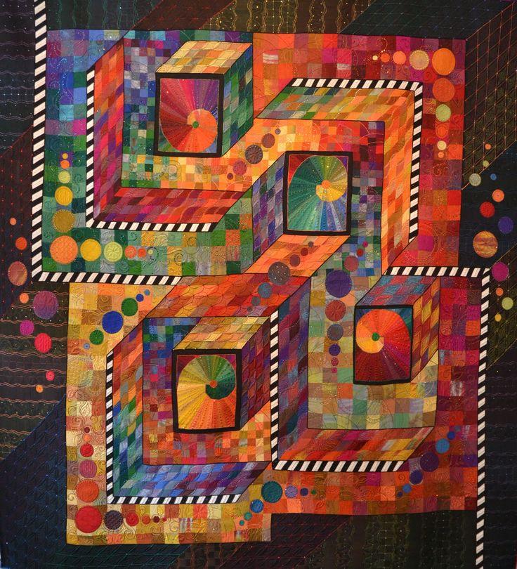 Paradox heißt der neueste Quilt von Claudia Pfeil