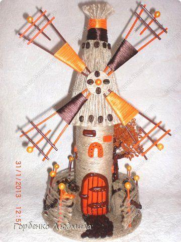 Представляю на Ваш суд еще одно мое оранжево-кофейное творение!!!Очень надеюсь,что моя мельница Вам приглянется  и пригодится мастер-класс))) фото 1