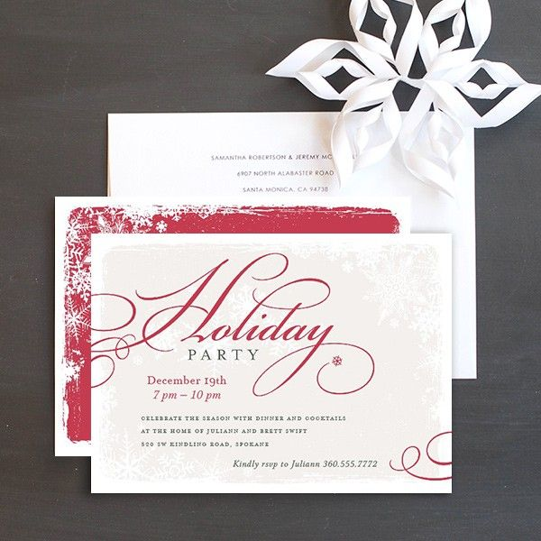 Snowflake Christmas Party Invitation