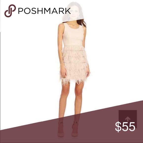 Gianni Bini Bradshaw Feather Dress Gianni Bini Bradshaw Feather Dress in LIGHT pink - Size Medium - only wore once!! Very fun dress. Gianni Bini Dresses