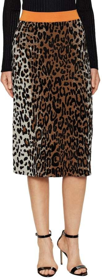 Stella McCartney Women's Leopard Print Embroidery Midi Skirt. Midi skirt fashions. I'm an affiliate marketer. When you click on a link or buy from the retailer, I earn a commission.