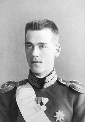 His Imperial Highness Grand Duke Mikhail Alexandrovich of Russia (1878-1918).  He and his English valet were shot at Perm by the Bolsheviks in 1918, shortly before the murder of the Imperial Family at Ekaterinburg.  Grand Duke Mikhail was the first of the Romanovs murdered by the Bolsheviks.