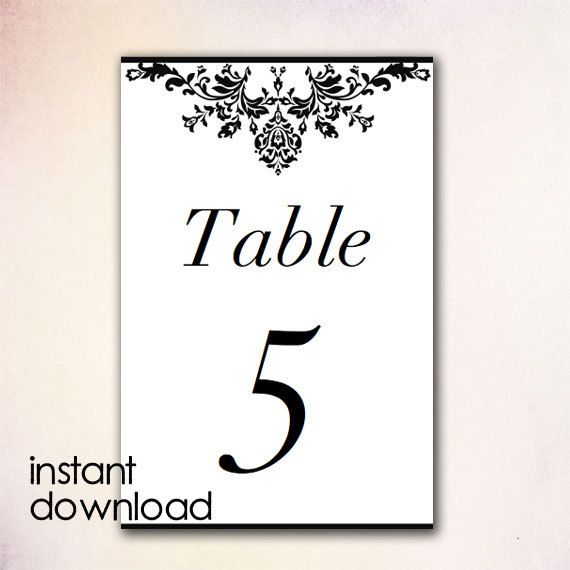 Best DIY Table Numbers Templates Instant Download Images On - Table number template