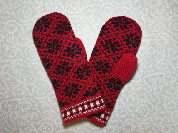 Hand-made adult mittens model5 by LanaNere on Etsy