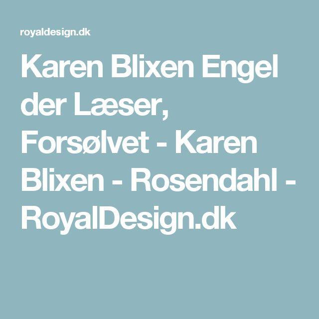 Karen Blixen Engel der Læser, Forsølvet - Karen Blixen - Rosendahl - RoyalDesign.dk