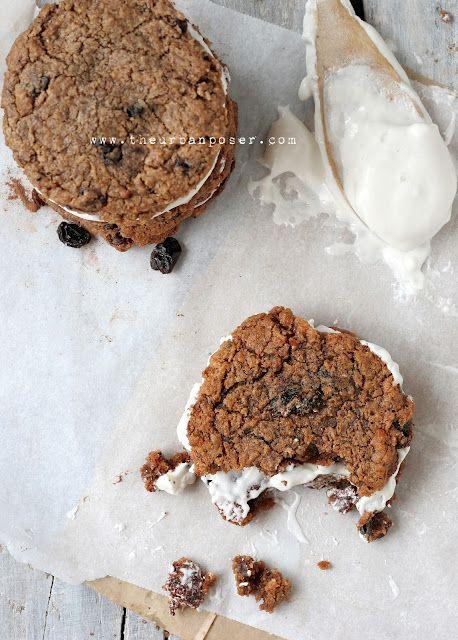 Grain Free 'Oatmeal' Creme Pie Cookies W/Marshmallow Fluff (GAPS/Paleo/SCD Options)