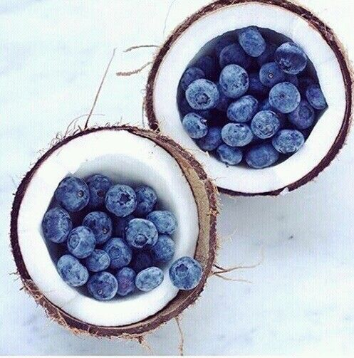 Coconut and blueberries - What a way to start the day! #lolalizainspo #foodie #summer #coconut