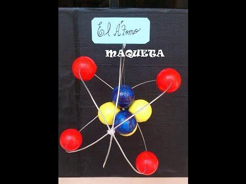 Escritorio de clases: Maqueta de modelos atómicos