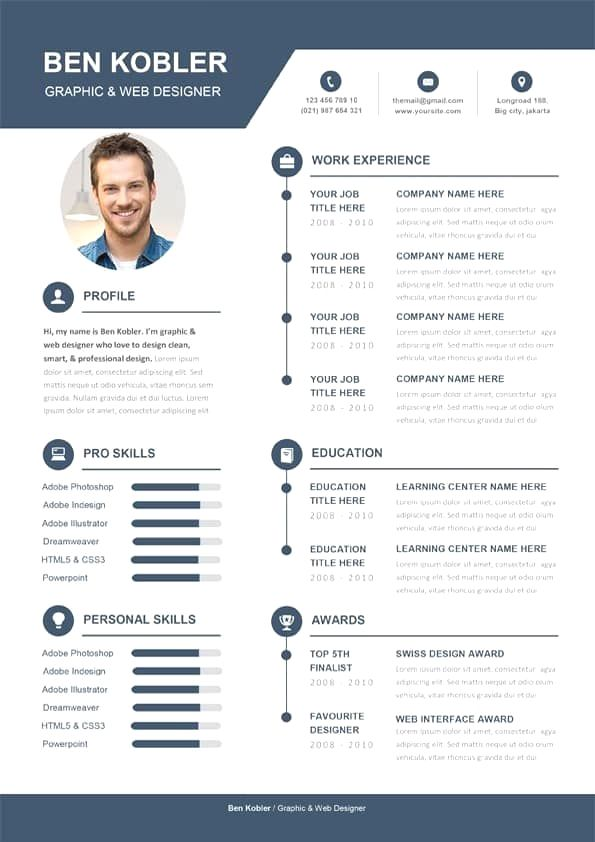 Professional Resume Template Instant Download 1 Page Resume Template For Ms Word Diy Resume Temp Creative Cv Template Cv Template Free Cv Words
