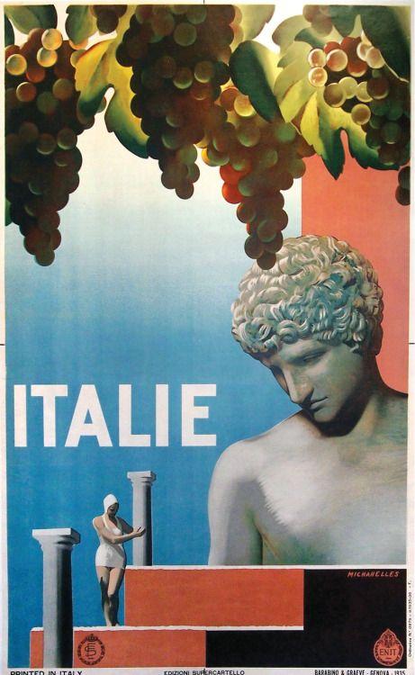 """modernizor: """" Italie vintage travel poster """""""