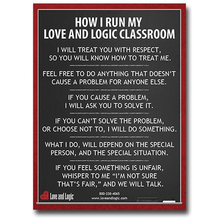 Classroom Poster or Gift for Teacher | Love and Logic Poster
