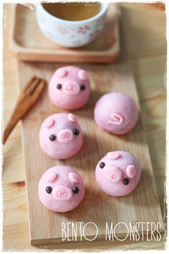 "Piggy Snowkin Mooncake, by Ming of ""Bento, Monsters"" 