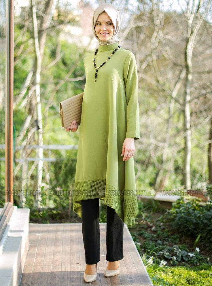 Long Tunic - Green - Tunics - Modanisa