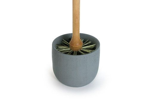 Swedish designer Lovisa Wattman has created a stylishly sleek toilet brush set. Handmade from birchwood and anthracite coloured soft concrete by visually impaired craftsmen at the Iris Hantverk manufactory. This is probably one of the most exclusive but also most beautiful toilet brushes you've ever seen.  Anthracite soft concrete holder