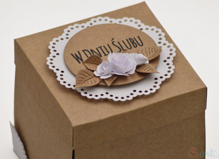 Kartka Ślubna pudełko Mr&Mrs serce Cz-art Laboratorium kreatywności