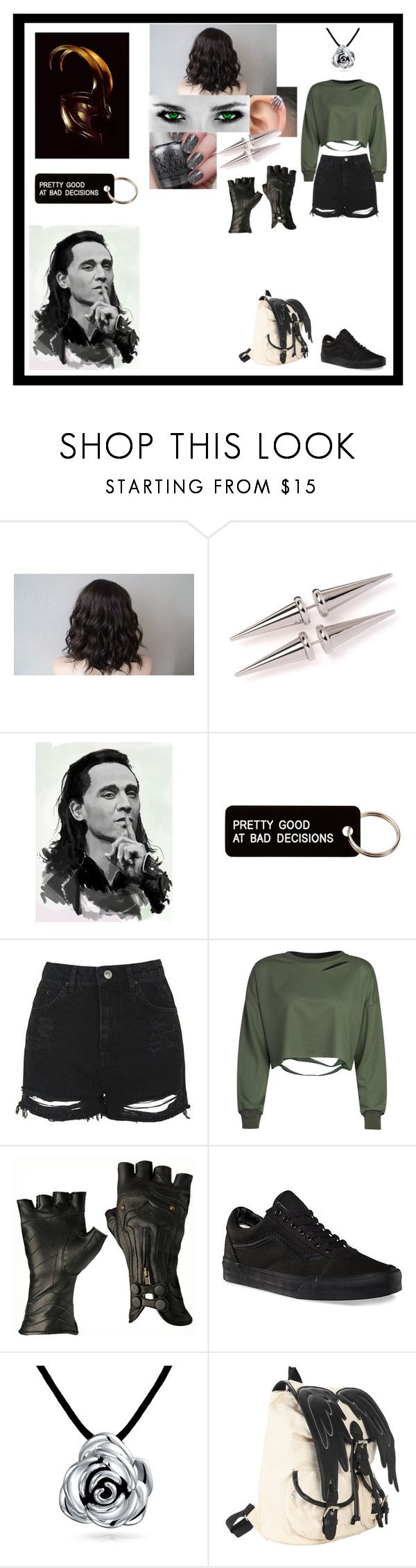 """""""Untitled #789"""" by thin-mint on Polyvore featuring Various Projects, Topshop, WithChic, Vans, Bling Jewelry and Hot Topic"""