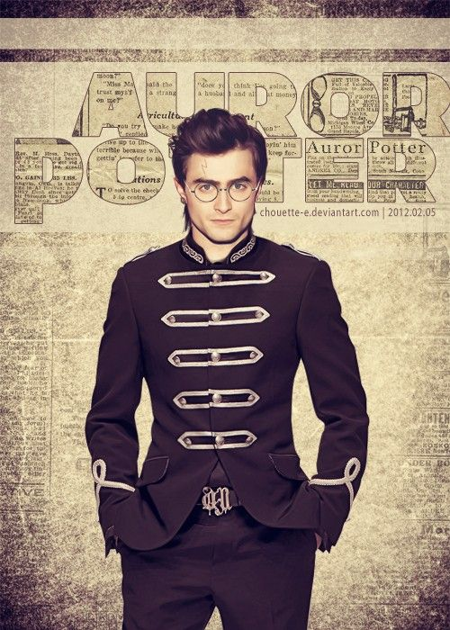 Auror Potter. Oh my GOD! He looks like he's in the world's most awesome marching band.