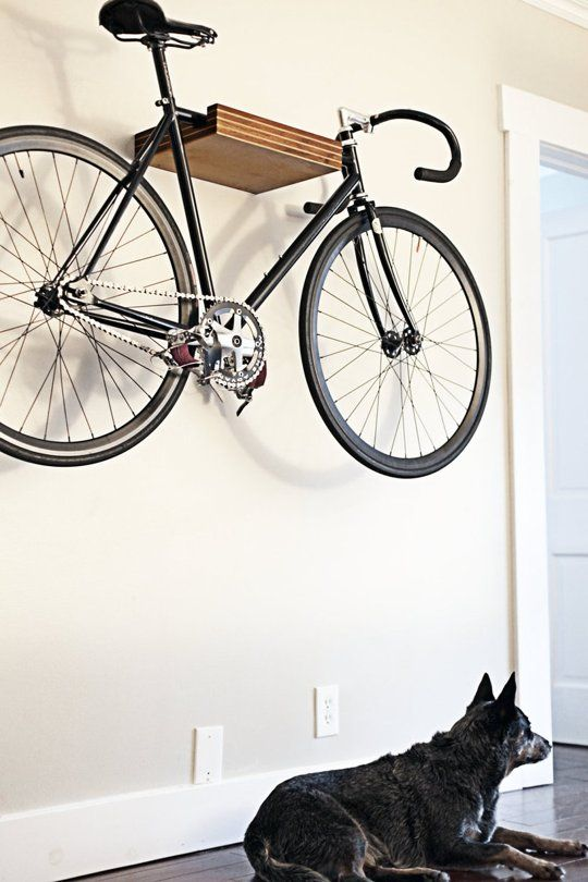 park it small space bike storage solutions wall mount apartment therapy and bike storage. Black Bedroom Furniture Sets. Home Design Ideas