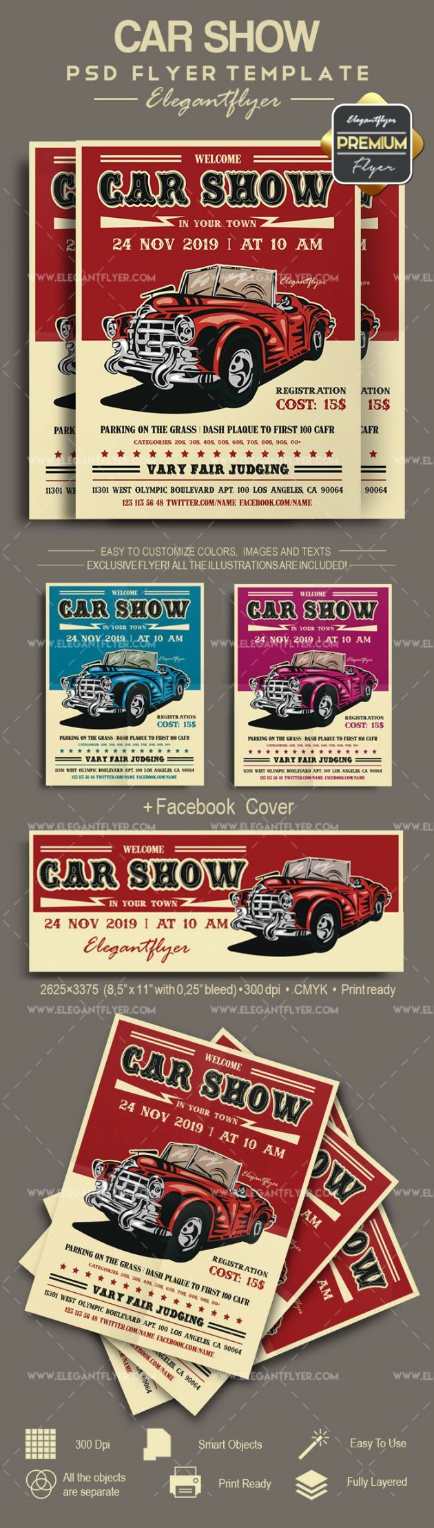 Get Our Example Of Classic Car Show Flyer Template Flyer Template Psd Flyer Templates Flyer