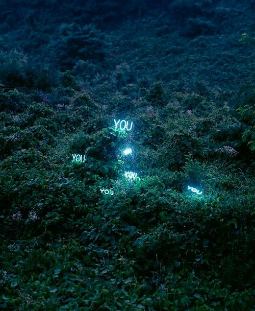 Beautiful neon sign installations by South Korean artist Lee Jung. // #art #installation #sculpture #photography