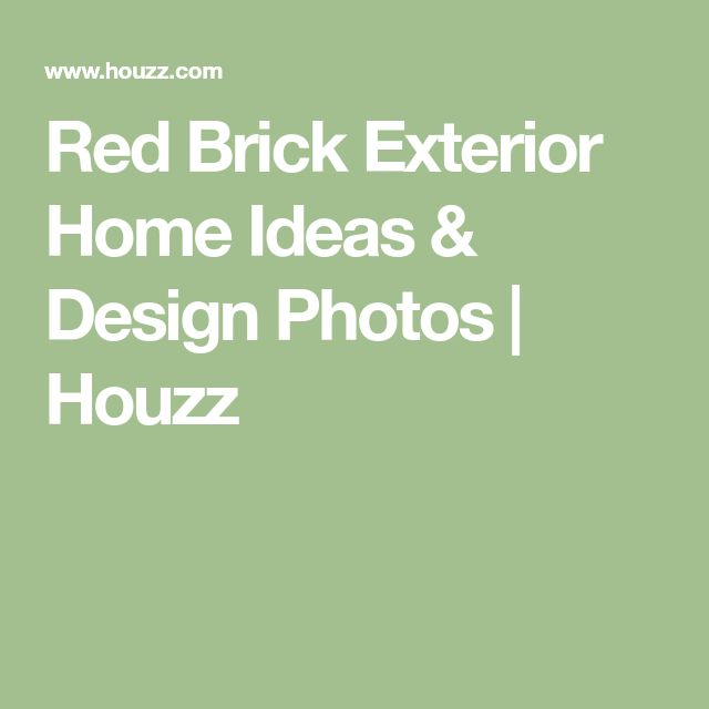 Red Brick Exterior Home Ideas & Design Photos | Houzz