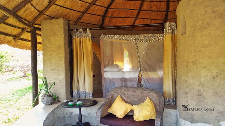 Enjoy some early morning listening (#DawnChorus) and watching from your chalet. A perfect location for watching #elephants and #hippos in the moonlight. #BushmansBaobabs #Liwonde National Park #Malawi #Safari