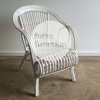 White wicker chair #eventhire