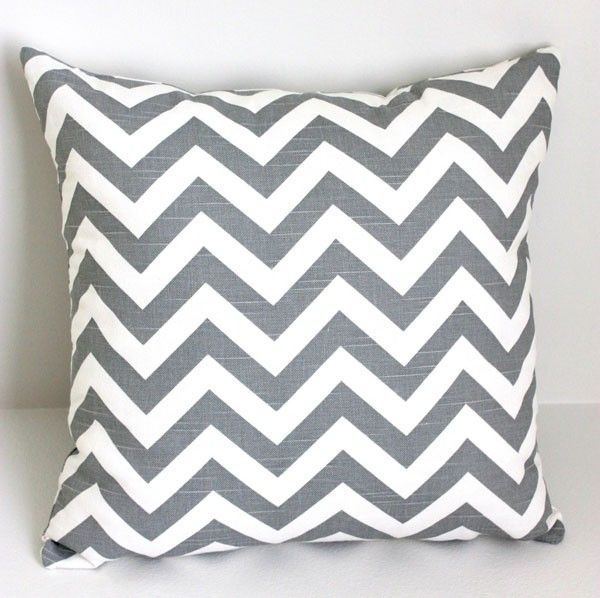 Grey Chevron Cushion