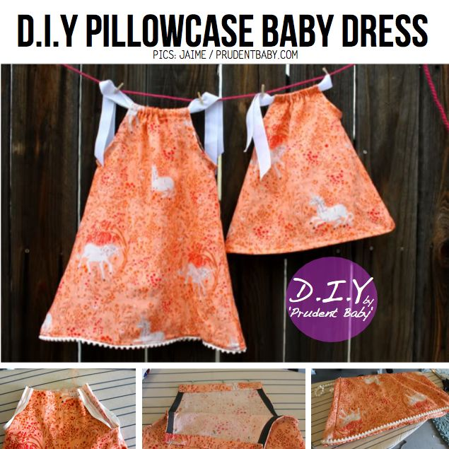 DIY Toddler Dresses   Make cute baby dresses from old pillowcases with the PATTERN & DIY ...