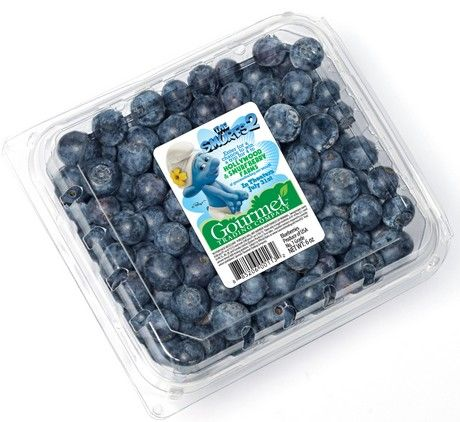 Look for stickers on blueberries the next time you're grocery shopping. Nice to see Gourmet Trading Company using marketing to encourage kids to eat healthy!