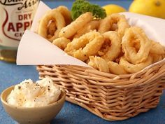 I'm not much for fried foods, but Calamari is a weakness! I would substitute my fave Gluten Free Flour blend and make sure the fish sauce is GF as well.