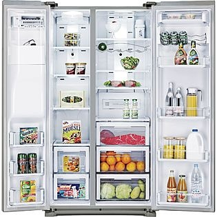 Samsung- -24.1 cu. ft. Side-By-Side Refrigerator -Stainless Steel ENERGY STAR®  Counter Depth