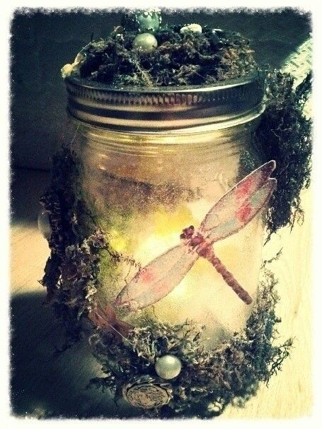 How to decorate a bottle / jar. Fairy Jar - Step 4
