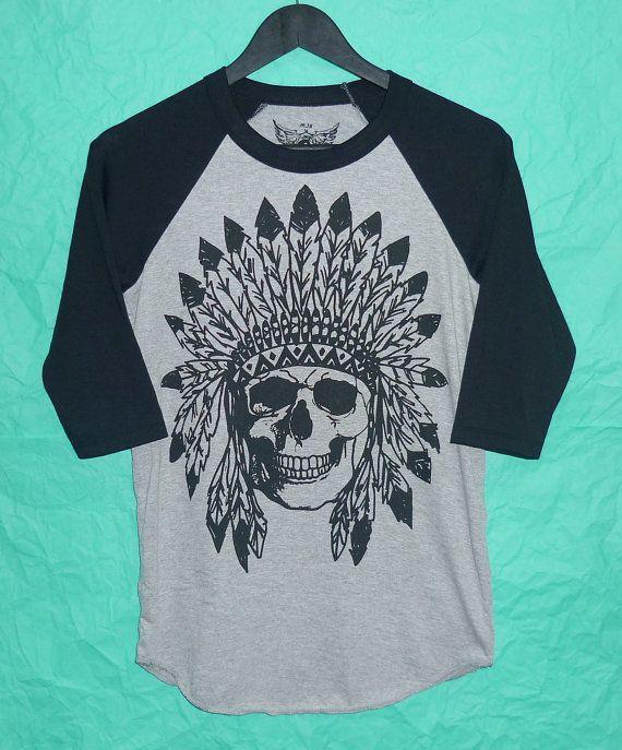 63c6574aa Minnetonka Moccasins | Moccasins Coupon | Minnetonka Sale | Boots. Crew  neck baseball Shirt Indian skull raglan tee Clothing ...