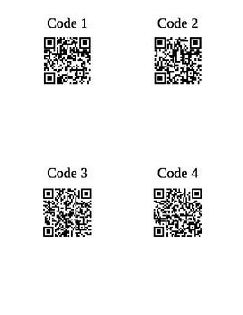QR Code Interrogative/Question Word Activity: Students are given a simple sentence in French upon scanning.  Then they must come up with a few different questions in French about the sentence.