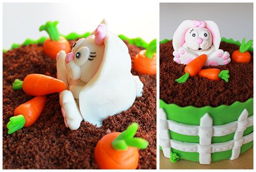 rabbit - bunny - konijn - cake - taart - easter - Pasen