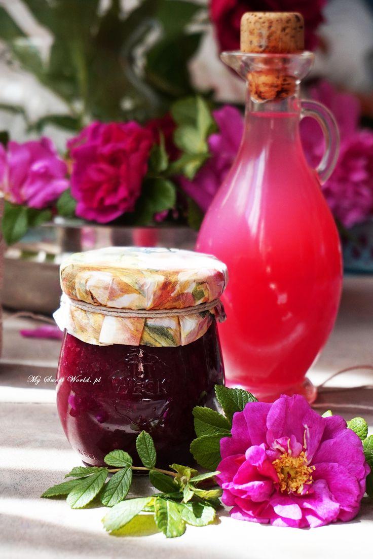 Konfitura z płatków róży i ekstrakt rózany || mysweetworld