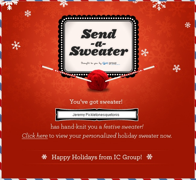 Festive / Christmas email marketing design