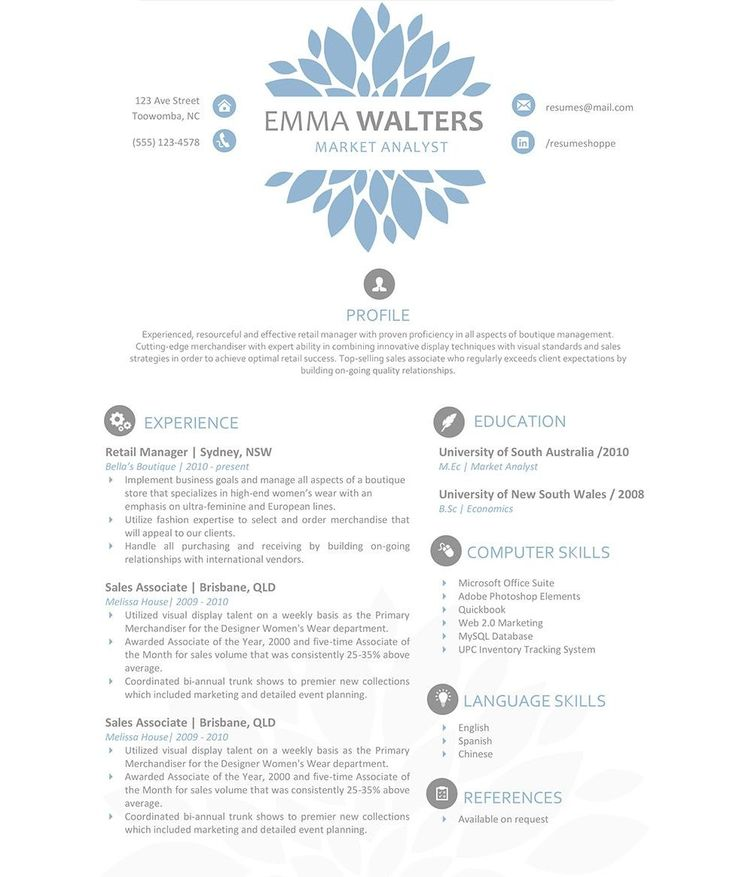 Best Resume Design From  On FiverrCom Images On
