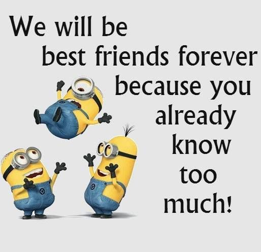 BFF We Will Be Best Friends Forever Because You Already Know Too Much!