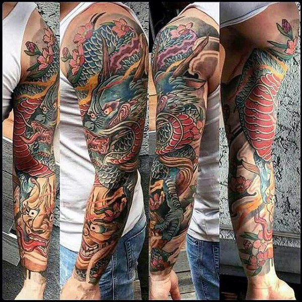 Good Dragon Arm Tattoo Designs 51 On Rose Tattoo Designs