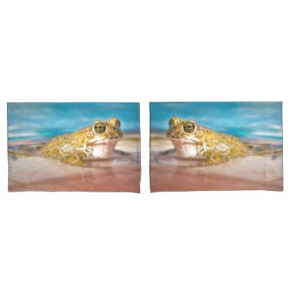 #Frog resting by the pool pillow case - #Pillowcases #Pillowcase #Home #Bed #Bedding #Living