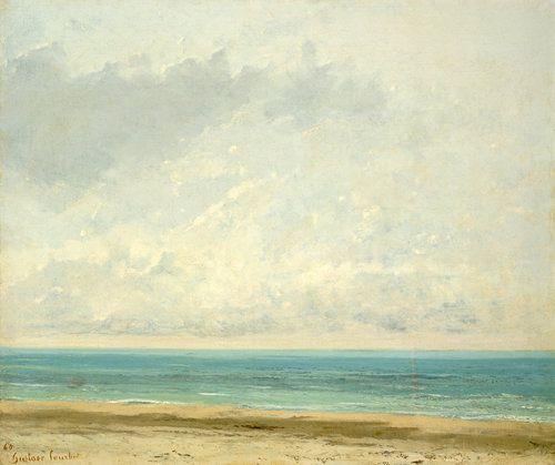 Calm Sea - Gustave Courbet  1866