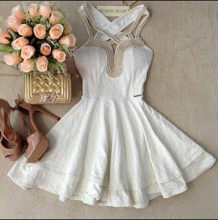 This would be a great dress for the bridal shower or rehearsal dinner <3
