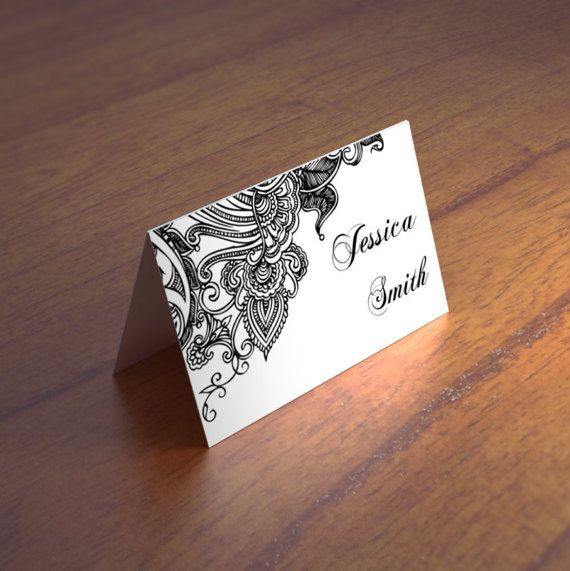 lace wedding place cards template black and by